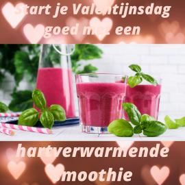 Start je Valentijnsdag goed met een hartverwarmende smoothie